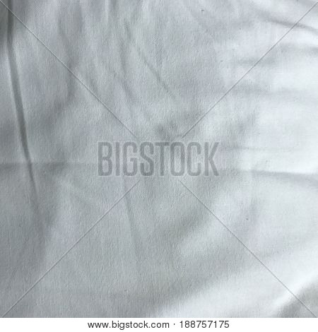 Fresh clean white bed linen pillow fabric abstract texture background
