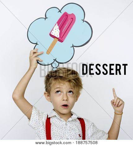 Sweet Delicious Yummy Tasty Food Dessert Snack Word Graphic