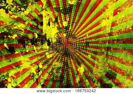 graffiti painting with rays design background