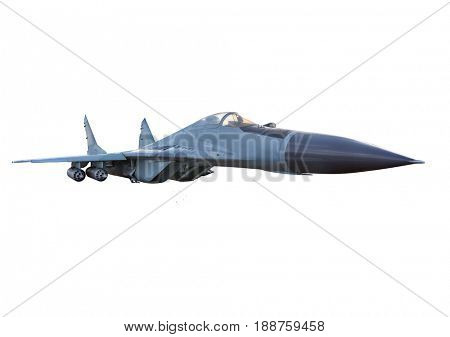 Military plane. war plane isolated on white background.  airplane in flight. nobody