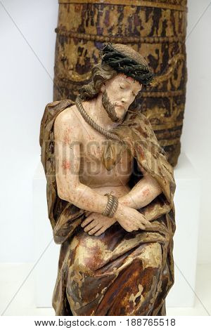 ZAGREB, CROATIA - FEBRUARY 17: Ecce Homo, mid 18 century, Zagreb, Croatia on February 17, 2015.