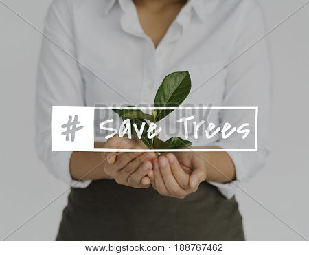 Save trees nature conservation plants resources