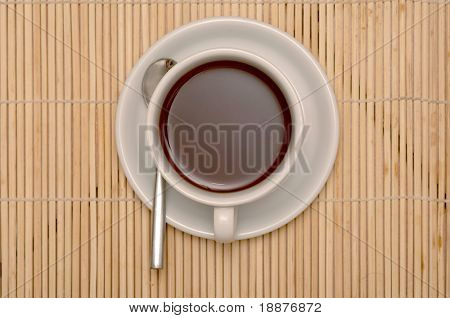 cup of coffee with clipping paths poster