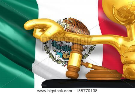 Mexico Law Concept With The Original 3D Character Illustration