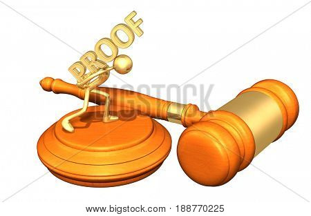 Burden Of Proof Law Concept With The Original 3D Character Illustration