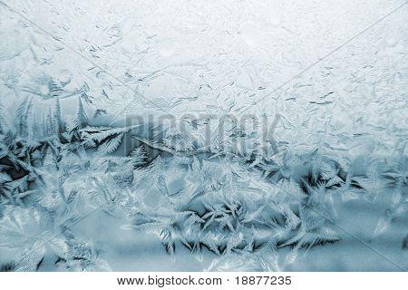 window frost pattern