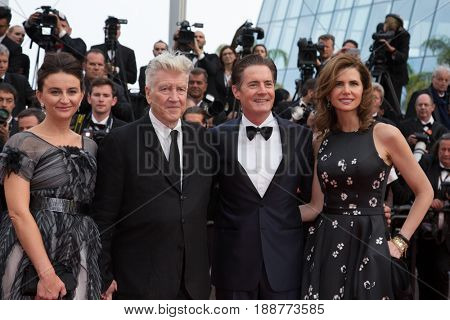 Emily Stofle, David Lynch, Kyle MacLachlan, Desiree Gruber attend the 'The Beguiled'  premiere for at the 70th Festival de Cannes. May 25, 2017 Cannes, France