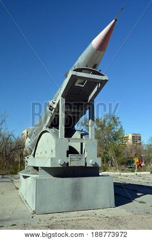 Museum of former Soviet  anti-ballistic missile testing range Sary Shagan.May 8, 2017.Priozersk.Kazakhstan