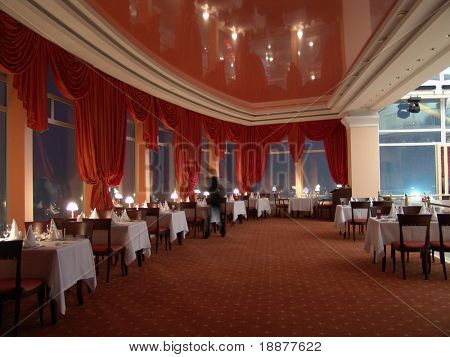 luxury restaurant interior poster