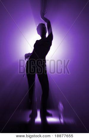 one of pose of disco dancer