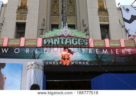 LOS ANGELES - MAY 25:  Wonder Woman Atmosphere at the