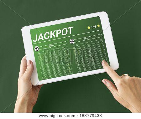 Gambling Football Game Bet Concept
