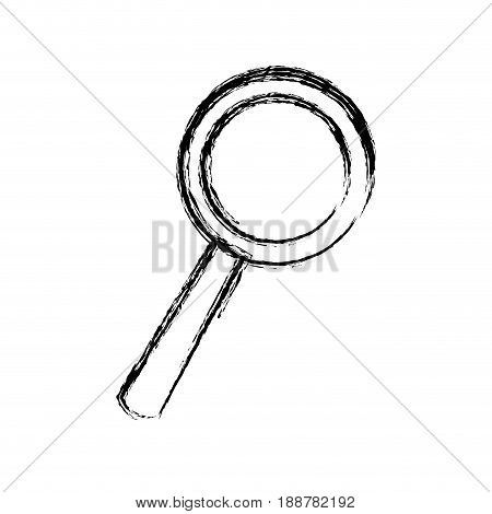sketch magnifier search loupe investigation icon vector illustration