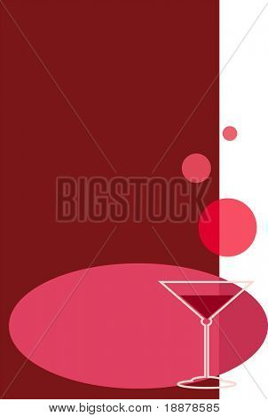 vector image with wineglass, may be use like background
