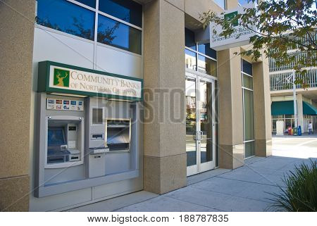 SACRAMENTO, CALIFORNIA, USA - November 14, 2009: Exterior of Community Banks of Northern California in downtown Sacramento