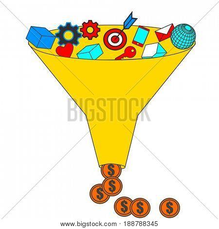 Business conversion funnel