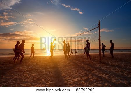 Beach volleyball, sport that is played on the beach and playground sand