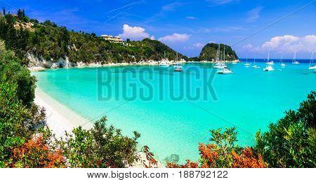 Gorgeous beaches of Ionian island of Greece- Paxos,Lakka