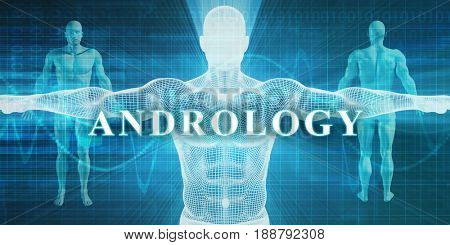 Andrology as a Medical Specialty Field or Department 3D Illustration Render