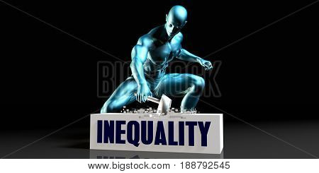 Get Rid of Inequality and Remove the Problem 3D Illustration Render