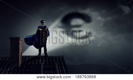 Strong and powerful as super hero
