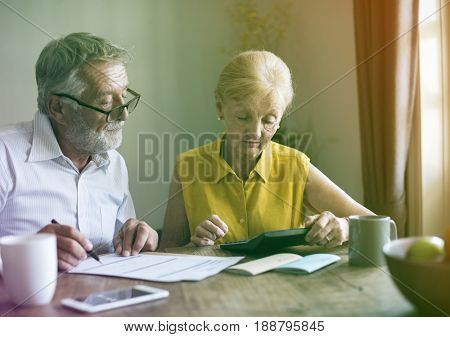 Photo Gradient Style with Senior Couple Insurance Application Form