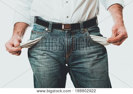 Male empty pockets