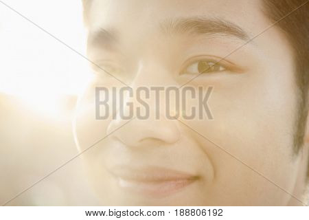 Smiling Chinese man