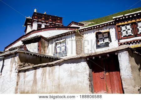 The Potala village in Lhasa Tibet China