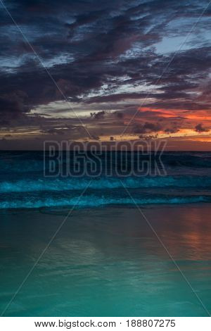 Amazing sea beach sunset with beautful bright colours. Good for wallpaper or background image