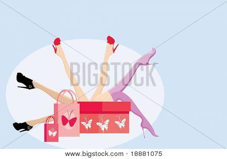 vector image of sexy legs