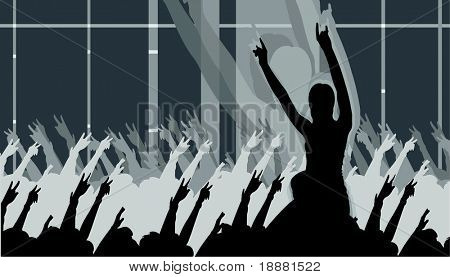 vector image of clubbing people