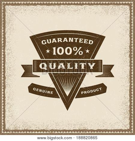 Vintage 100% Quality Label