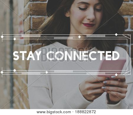 Stay Connect Everywhere Word Graphic