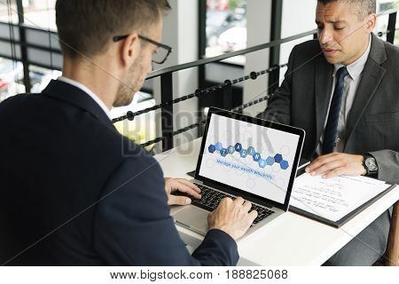 Business people  analysis economics financial transaction investment
