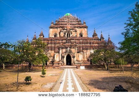 Sulamani Pahto temple-is one of Bagan's most attractive. This temple, known as the Crowning Jewel, was constructed around 1181 by Narapatisithu, Bagan. Myanmar (Burma)