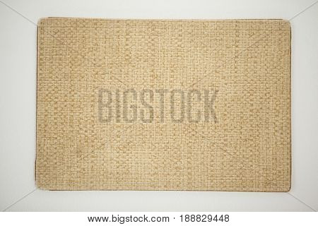 Jute sushi mat against white background
