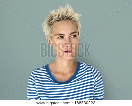 Caucasian Blonde Female Annoyed Irritated