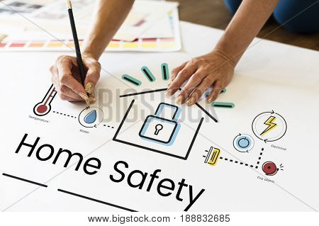 Home safety security protection system control