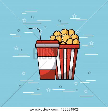 pop corn and soda concept vector icon illustration design graphic