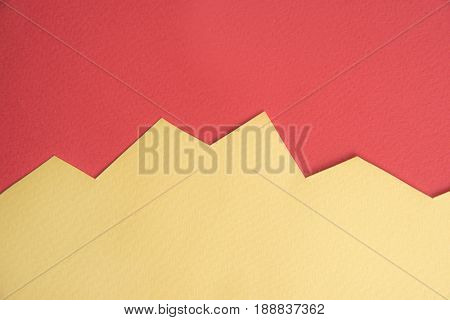 Image of yellow business graphic isolated over red background.