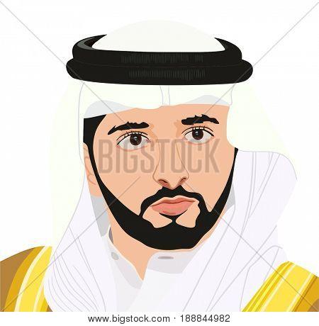 May 30, 2017: Portrait of His Highness Sheikh HAMDAN BIN MOHAMMED BIN RASHID AL MAKTOUM Crown Prince of Dubai, United Arab Emirates