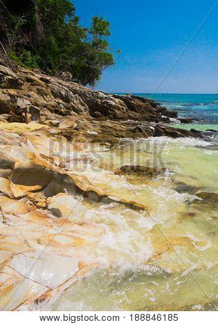Beautiful Sea Sunny Rocks