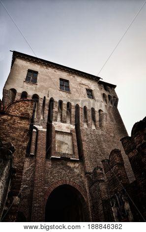 Historical city of Mantua, Mantova, on Mincio river