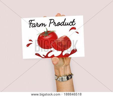 Organic Vegetables Fresh Tomato Concept