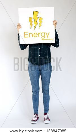 Lighting Power Energy Saving Graphic