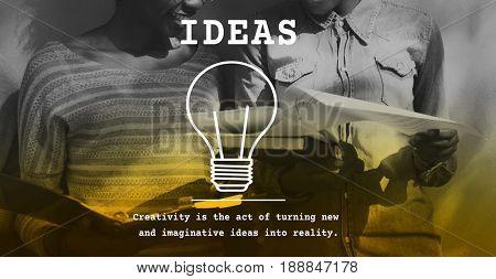 Creative Thinking Lightbulb Icon Sign