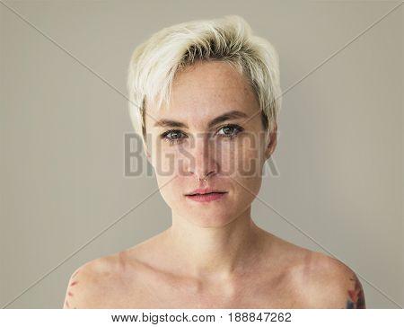Woman Tattoo Studio Portrait