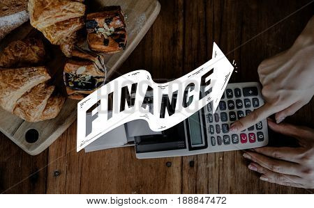 Finance Business Investment Accounting Word Arrow Graphic