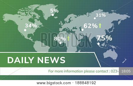 Financial Stock News Report Concept